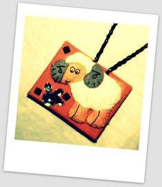"""El yapımı kuzu kolye (handmade lamb necklace) :)))  """"meee ee eee!"""""""