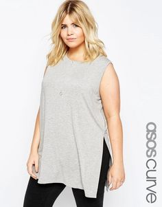 ASOS Curve ASOS CURVE Sleeveless Tunic with Side Split -- For more information, visit image link.