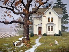 'First Snow Flurries' by John Sloane