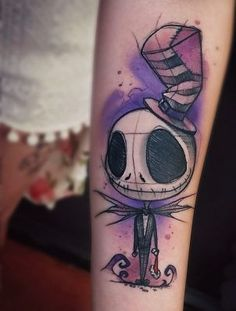 jack skellington tattoos from nightmare before christmas
