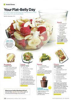 Flat Belly Diet - fruit, summer salad and jambalaya   Women's Health Magazine