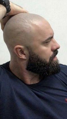Bald Men With Beards, Types Of Beards, Black Men Beards, Bald With Beard, Beard Fade, Trimmed Beard Styles, Faded Beard Styles, Long Beard Styles, Hair And Beard Styles