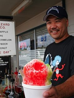 Don't even think about calling it a snow cone: Hawaiian shave ice boasts a superfine, snow-like texture (as opposed to coarse, crushed pellets) that absorbs syrup rather than just being coated by it.