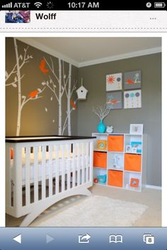 Baby Room Decor Ideas. Clean, Minimalism with a Color Pop.