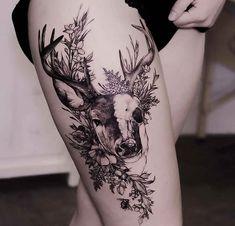 Tattoo Ideen Frauen - 30 Epic Tattoo Ideas For Woman - Tattoos - Frauen Trendy Tattoos, Cute Tattoos, Flower Tattoos, Animal Tattoos For Women, Sleeve Tattoos For Women, Women Sleeve, Arm Tattoos For Women Forearm, Unique Animal Tattoos, Bull Skull Tattoos