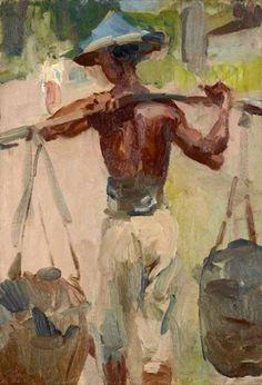 Isaac Israëls - Water Carrier; Creation Date: 1920; Medium: Oil on canvas