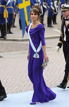 Rania de Jordania. Boda de Victoria de Suecia.