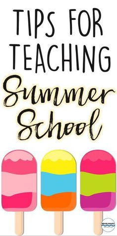 Are you teaching summer school?  If so, then you've got to check out this post filled with simple tips and tricks for making summer school fun and educational!
