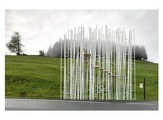 Sou Fujimoto - One of the seven bus stops of the bus stop project in Krumbach, Austria.