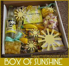box of sunshine to brighten someones day.