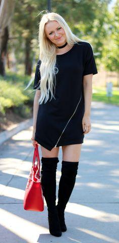 t-shirt dress outfit idea