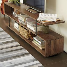 More walnut awesomeness.  $$$$$ Austin Media Console in TV Stands & Media Consoles | Crate and Barrel