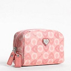 Coach Waverly Hearts Small Cosmetic Case