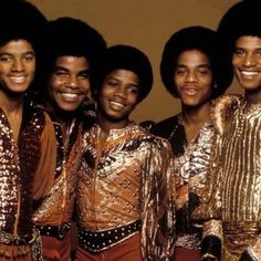 Jacksons (Michael, Tito, Randy, Marlon, and Jackie Jackson.)