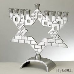 Star of David Jerusalem Menorah