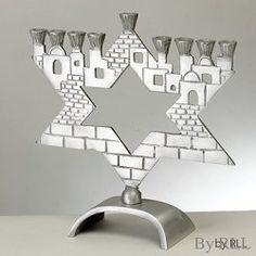 Star of David Jerusalem Menorah