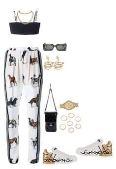 """""""Untitled #3675"""" by mollface ❤ liked on Polyvore featuring STELLA McCARTNEY, Chanel, Dolce&Gabbana, Cartier, Michael Kors and Gucci"""