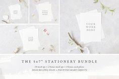 """The 5x7"""" stationery mock up BUNDLE @creativework247"""