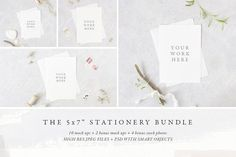 """The 5x7"""" stationery mock up BUNDLE by White Hart Design Co. on @creativemarket"""