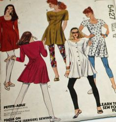 1991 Sewing Pattern McCall's 5427 Tunic and by Old2NewMemories
