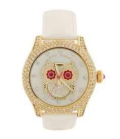 Betsey Johnson Owl Watch I NEED THIS
