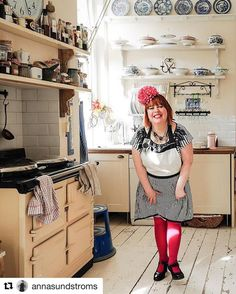 I loved this set of pix by talented Swedish photographer Anna Sundstroms. In my kitchen. Btw Swedish midsummer supperclub with linn soderstrom on June 21st. Book on the events page of my site msmarmitelover.com #food #photography #chef #cook #kitchens #pink #pinktights #pink #aga