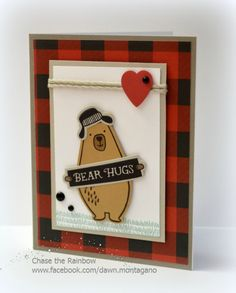 CTMH 'Jack' stamp and paper pack. This bear is adorable!
