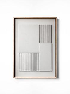 Handmade Minimalistic Wall Relief by Copenhagen based studio Atelier Plateau © 3d Wandplatten, Diy Wall Art, Light And Shadow, Abstract Wall Art, Installation Art, Painting Inspiration, Wall Design, Paper Art, Decoration