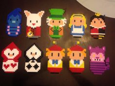 Disney Alice in wonderland characters perler beads