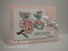 Pastelltöne und Blütenmotive sind zu Ostern einfach wunderschön. #Ostern # Karte #stampinup #selbstgebastelt #DIY