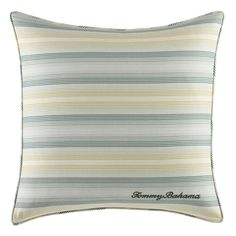 Tommy Bahama Cuba Cabana 18-inch Decorative Pillow (18 inch), Blue, Size 18 x 18 (Cotton, Applique)