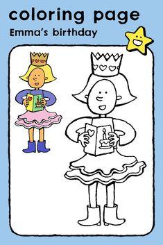 Emma's birthday, coloring pages, colouring picture, kids, celebrations, parties, birthday, cards • Emma is jarig, kleurplaat, kleurprent, kinderen, feesten, verjaardag, kaarten • Emma hat Geburtstag, Ausmalbilder, Malvorlagen, Kinder, Feste, Geburtstag, Karten • Emma fête son anniversaire, coloriage, image à colorier, enfants, fêtes, anniversaire, cartes #freebie #ColoringPages #kleurplaat #Ausmalbilder #coloriage #kids #kinderen #Kinder #enfants #birthday #verjaardag #Geburtstag… Bold Colors, Colours, Birthday Coloring Pages, Crazy Outfits, Carnival Masks, Saint Nicholas, Nouvel An, Educational Games, Craft Activities
