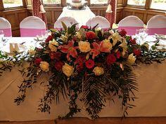 Pink Top Table wedding arrangement