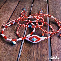 #My_armcandy Βραχιολακια Μάρτη macrame. #March-bracelets. Μάρτης. Μαρτάκια. #martis Friendship Bracelets, Knots, Braids, March, Crafting, Jewels, Eye, Bracelet, Bang Braids