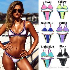 $13.96/Piece:buy wholesale 2016 New Womens Triangle Bandage Bikini Set Neoprene Padded Push UP Bra Swimwear Swimsuit Free Shipping from DHgate.com,get worldwide delivery and buyer protection service.