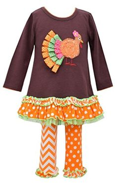 Bonnie Baby BabyGirls Infant Ribbon Turkey Appliqued Legging Set Brown 12 Months >>> Continue to the product at the image link.