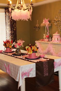Tickled Pink Theme. Baby shower success!  Now just waiting for my granddaughter to arrive. :)