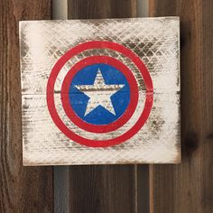Captain America Marvel Comics Super Heroes Sign  by Chotchkieville