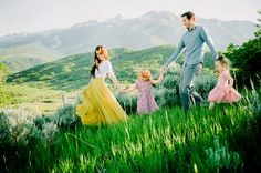 First Post :: Meet My Family — Girl Enchanted Lifestyle Blog Photo credit: Lori Romney Photography.  I just love our new family photoshoot! My yellow skirt is from Morning Lavender