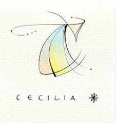 """C/Cecilia""   Karen Ter Haar. ""C/Cecilia""   Karen Ter Haar -  non-calligraphic lettering-based artwork contest 2002. http://www.cecilia-letteringart.com/purelypencils/pencilgalleryconditions.htm"