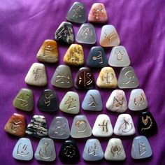 Runes - unless I'm mistaken, there's a different stone for each rune!