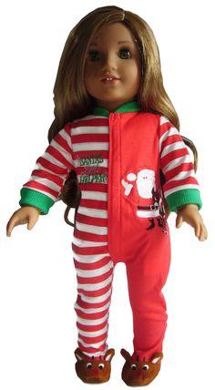 754ca54b3f Christmas Longjohns Footie Pajamas for 18