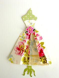 embellished paper dress form