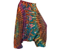 Colorful Tie Dye Thai Harem Pants by AsianCraftShop on Etsy, $25.00