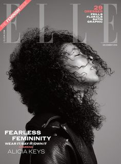 #Medokifashionnews : Alicia Keys Cover Girl by Kerry Hallihan for ELLE UK December 2016 ISSUE ! Fearless Femininity