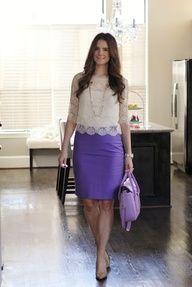 lace  purple pencil skirt