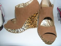 Brown Cheetah Wedge- $79.99 Size 6.5, Designer: PROMISE  Retails for $129.9