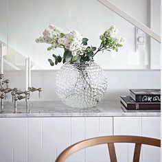 Regram from the beautiful home of @stylizimoblog! A blocks patterned Superfront sideboard with our Carrara marble top. Built on the Ikea Besta cabinets.