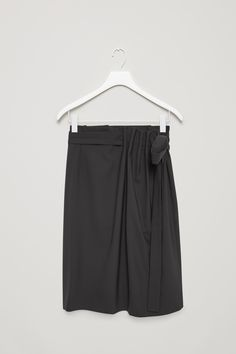 COS | Pleated wrap-over skirt