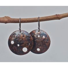 Copper earrings, Rustic copper, Copper jewelry, Patina earrings,... (955 RUB) ❤ liked on Polyvore featuring jewelry and earrings